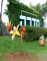 Huge Butterflys& flowers models at Hadera