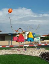 The Childhood sculpture at Bne-ayish