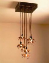 Ceiling lamp- knitted copper  threads