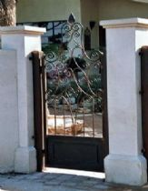 A stylized gate from iron