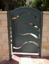 An entrance gate from iron