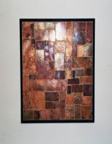 A picture made from patched and hammered copper