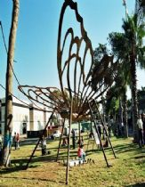 The Butterfly in the Tel-Aviv convention gardens