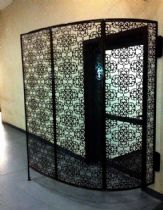 Decorative partition, arabesque patterned. Iron work