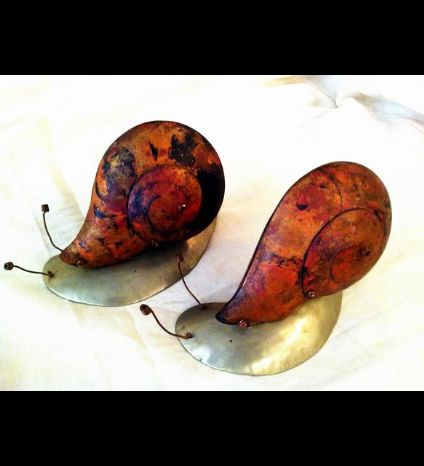 Snails, copper and alpaca work