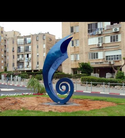 Statue of waves in Bat Yam