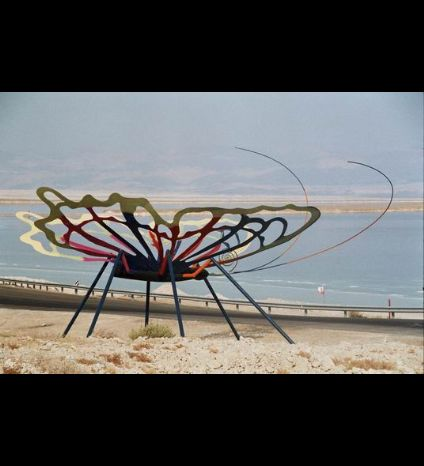 Huge Butterflys - Exterior Sculptures in Dead sea