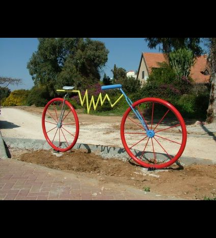 Yavneh, bicycle sculptures